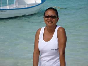 Ramona Tomasowa for all your diving and snorkeling at Diverspoint Puerto Morelos Mexico